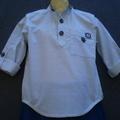 Grey Check Grandpa Style Boy's Shirt