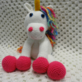 Peggy the Unicorn - Crocheted