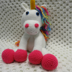 Unicorn, Crocheted Softie, Girl Gift