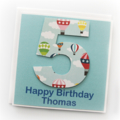 Any Age Personalised Birthday card children hot air   balloon 1 2 3 4 5 6 7 8 9