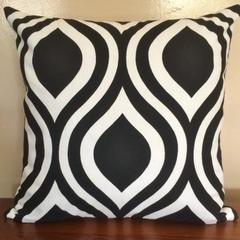 Retro Black & White Teardrop Cushion Cover  - Retro Cushions