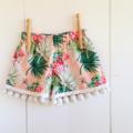 Tropical Watermelon Crush Pom Pom Shorts