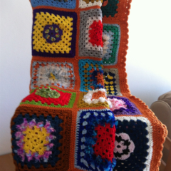 Colourful Crochet Rug Blanket Throw