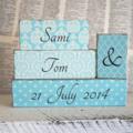 Custom Wedding, Engagement or Anniversary Word Block Set