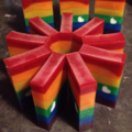 Rainbow Love - Glycerin Soap with Argan Oil and Shea Butter, Rainbow soap