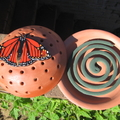 Mosquito Coil Holder with built in stand, Wanderer Butterfly Design