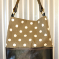 Large Ethnic, Ikat print, Leather, Organic, Eco friendly, Shoulder Bag