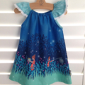 Dress in Midnight Fire Flies size 0 1 or 2 - perfect spring summer design.