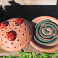 Mosquito Coil Holder with built in stand, Lady bug design