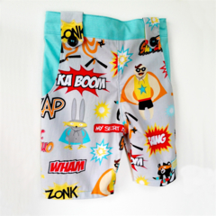 Super Hero Boys Shorts Size 0. Long Leg.