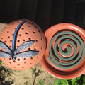 Mosquito Coil Holder with built in stand, Dragonfly Design