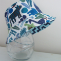 Boys summer hat in funky animal fabric