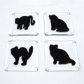 Fused Glass Cat Coasters