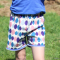 Girl's Size 10 Cream, Blue, Pink, Grey Purple Long Shorts Ready to post
