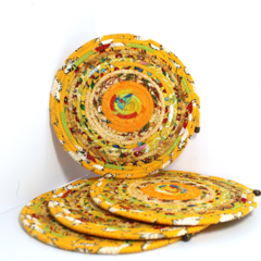 Coiled fabric placemats - set of 4
