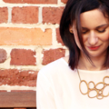 Large statement necklace - abstract necklace - eco friendly lasercut wood
