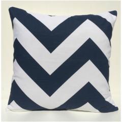 Navy & White Chevron Zig Zag Cushion Cover - Retro Cushions