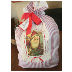 Vintage Style Santa Sack - Christmas - Custom Made