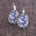 Japanese Garden ~Oval Lever Back Earrings