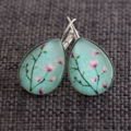 Sakura~ Teardrop Lever Back Earrings