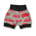 Red Vehicles Knit Banded Shorties (SIZE 000-0)