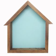 Bird house Shadowbox - Bluebird blue