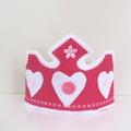 Pink and White Crown and Wand, Princess Fairy Tiara