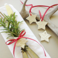 clay tag - embossed stars (set of 4)