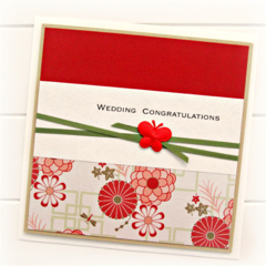 Wedding card | Red Oriental | Bride Groom Commitment Ceremony Love