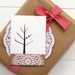 4 Mini Gift Cards, Handmade Blank Gift Tags, Birthday Christmas Thank You