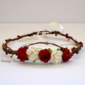 Christmas flower crown by Vintage fairy