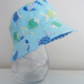 Boys summer hat in funky fish fabric-spoiled