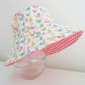 Girls hats in sweet bird pattern