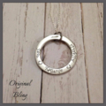 Personalised Hand Stamped Family Circle Pendant Necklace