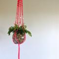 flamingo pink, macrame, hanging planter, homewares, interiors, gift