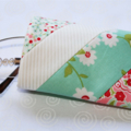 Patchwork quilted eyeglass case featuring Scrumptious fabric range