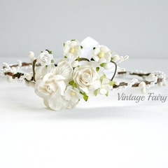 Emily flower crown by Vintage Fairy