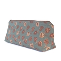 Love heart Make-up Zipper Pouch // Stationery Pencil Case Magnolia Blue grey