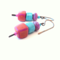 Skewer Mix blue and pink earrings by Sasha+Max Studio