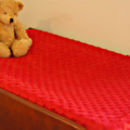 Bright Red Minky Dot Change Table Covers for boys and girls Nursery, Baby Shower