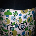 Apple Skirt in Green and Blue with Bamboo Stretch Waist