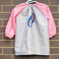 Art smock for 5 - 8 year old. Pink Babouska
