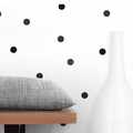 50 Black Polka Dots Wall stickers - In Black