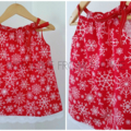Girls' Classic Pillowcase Dress - Size 1 - Christmas Snowflake