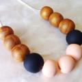 Ebony's Dream - Clay Bead Necklace