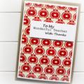 custom teacher card thank you card apples retro limited edition