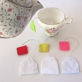 Four Felt Teabags Play Food