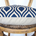 Navy and Natural Cushion Cover