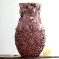 Mosaic with jewel embellishment ...vase