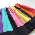 Size 2 OR 5 Girls Rainbow Party Skirt, Bright & Beautiful, 100% Cotton